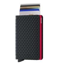 Secrid Slimwallet Cubic Black Red Cüzdan - Thumbnail
