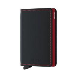 Secrid - Secrid Slimwallet Matte Black Red Cüzdan