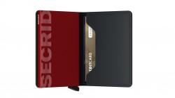 Secrid Slimwallet Matte Black Red Cüzdan - Thumbnail