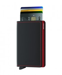 Secrid - Secrid Slimwallet Matte Black Red Wallet (1)