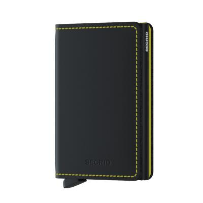 Secrid Slimwallet Matte Black Yellow Cüzdan