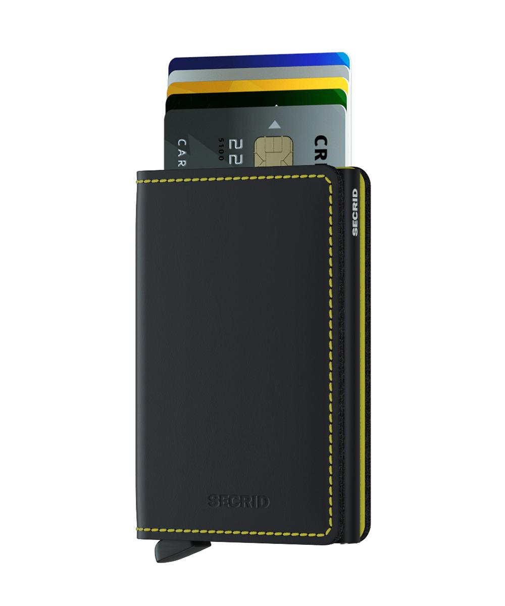 Secrid Slimwallet Matte Black Yellow Cüzdan