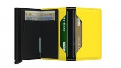 Secrid Slimwallet Matte Black Yellow Cüzdan - Thumbnail