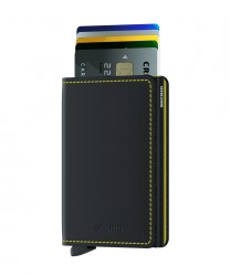 Secrid Slimwallet Matte Black Yellow Wallet - Thumbnail