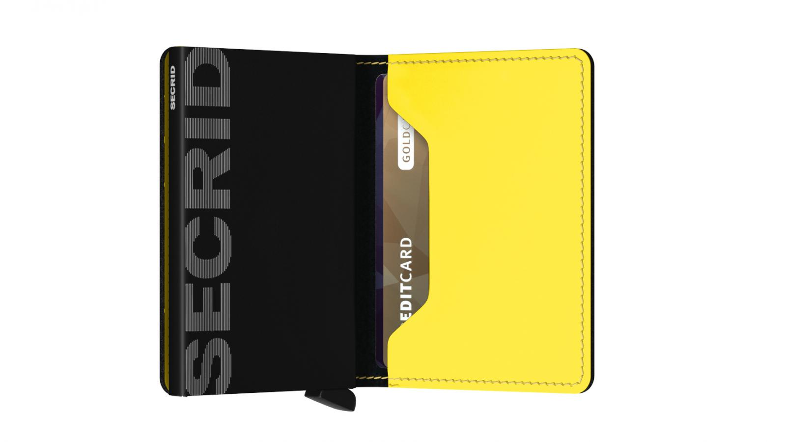Secrid Slimwallet Matte Black Yellow Wallet
