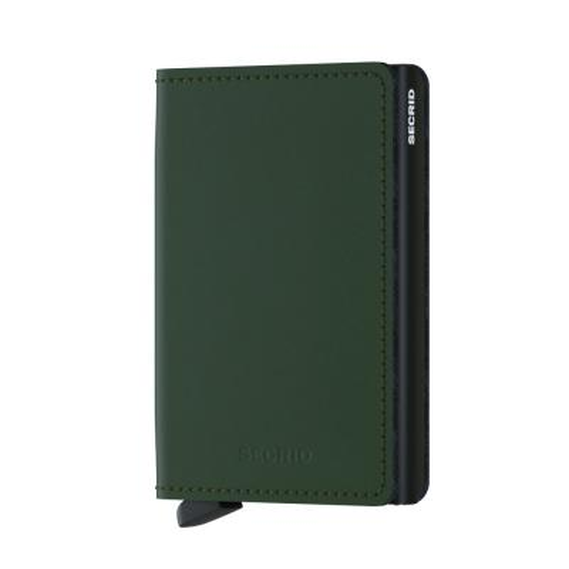 Secrid - Secrid Slimwallet Matte Green Black Cüzdan
