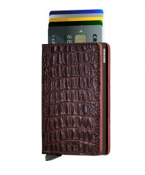 Secrid Slimwallet Nile Brown Cüzdan - Thumbnail