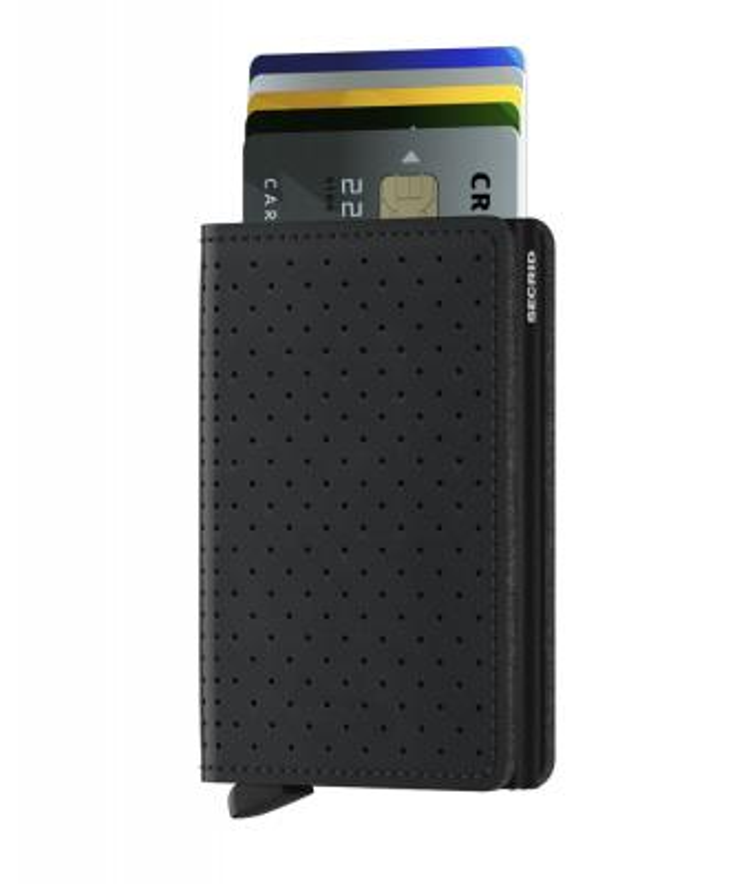 Secrid - Secrid Slimwallet Perforated Black Cüzdan (1)