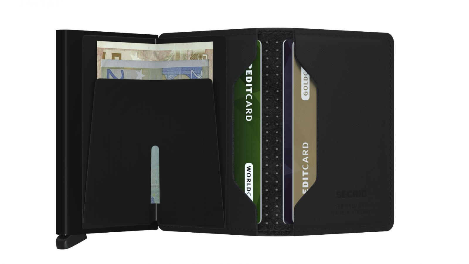 Secrid Slimwallet Perforated Black Cüzdan