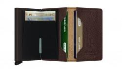 Secrid Slimwallet Stich Linea Espresso Cüzdan - Thumbnail