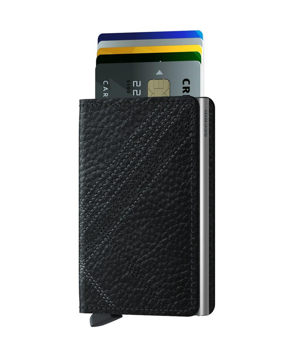 Secrid Slimwallet Stichline Black Wallet