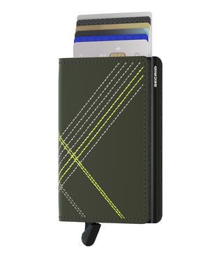 Secrid - Secrid Slimwallet Stichlinea Lime Wallet (1)