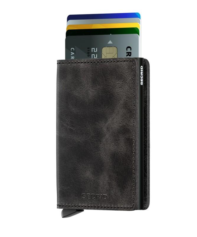 Secrid - Secrid Slimwallet Vintage Black Wallet (1)
