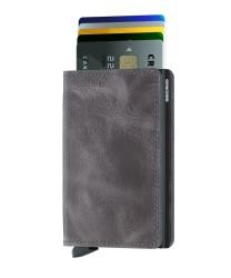 Secrid - Secrid Slimwallet Vintage Grey Black Wallet (1)
