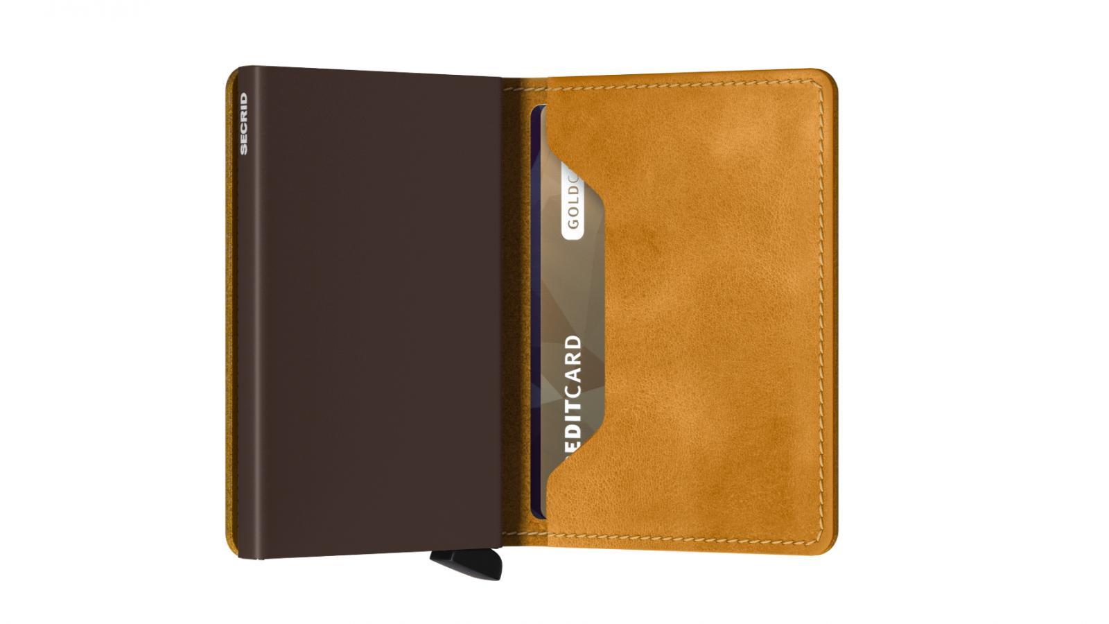 Secrid Slimwallet Vintage Ochre Wallet