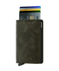 Secrid - Secrid Slimwallet Vintage Olive Black Wallet (1)