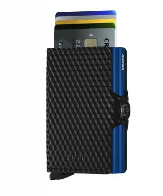 Secrid - Secrid Twinwallet Cubic Black Blue Cüzdan (1)