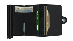 Secrid Twinwallet Perforated Black Cüzdan - Thumbnail