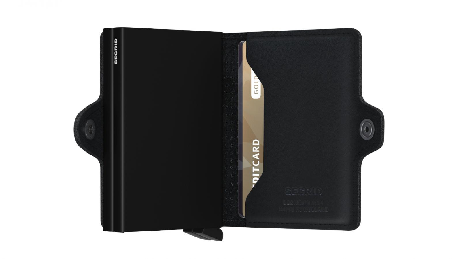 Secrid Twinwallet Perforated Black Cüzdan