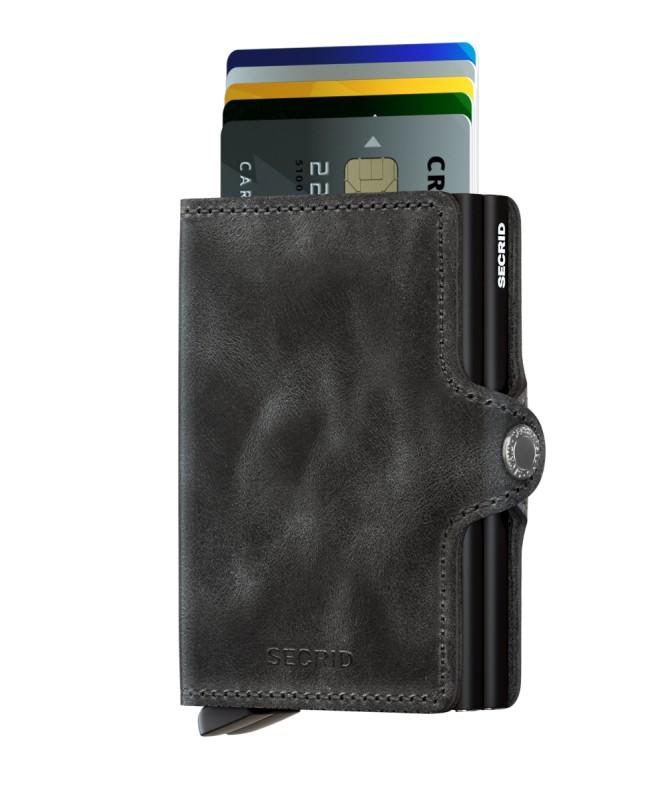 Secrid - Secrid Twinwallet Vintage Black Wallet (1)