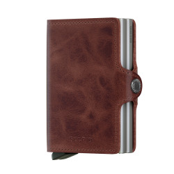 Secrid Twinwallet Vintage Brown Cüzdan - Thumbnail
