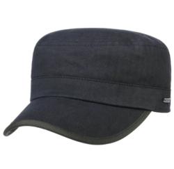 Stetson - Stetson Army Cap Cotton Herringbone Lacivert Saf Pamuk Şapka