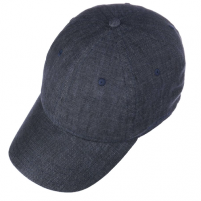 Stetson - Stetson Baseball Cap Linen Lacivert Keten Şapka (1)
