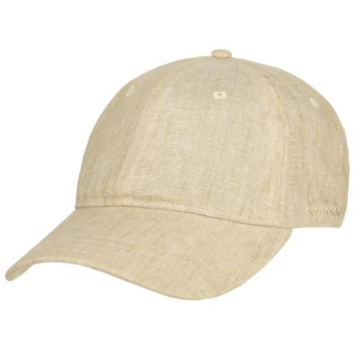 Stetson - Stetson Baseball Cap Linen Natural Keten Şapka