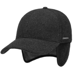 Stetson - Stetson Baseball Şapkası Antracite Yün Cashmere Kulaklıklı Şapka