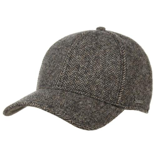 Stetson - Stetson Baseball Şapkası Balık Sırtı Kahve Yün Şapka