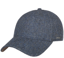 Stetson - Stetson Baseball Şapkası Balık Sırtı Mavi Laci Yün Şapka