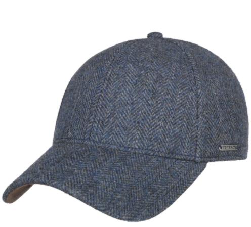 Stetson Baseball Şapkası Balık Sırtı Mavi Laci Yün Şapka