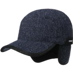 Stetson - Stetson Baseball Şapkası Kırçıllı Lacivert Gri Yün Süet Kulaklıklı Şapka