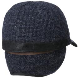 Stetson - Stetson Baseball Şapkası Kırçıllı Lacivert Gri Yün Süet Kulaklıklı Şapka (1)