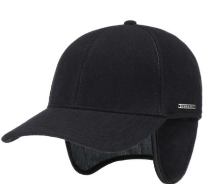 Stetson Baseball Şapkası Lacivert Yün Kaşmir Kulaklıklı Şapka