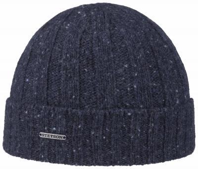 Stetson Beanie Wool Navy Blue Hat