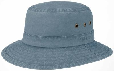 Stetson - Stetson Bucket Delave Organic Cotton UV Protection Navy Hat