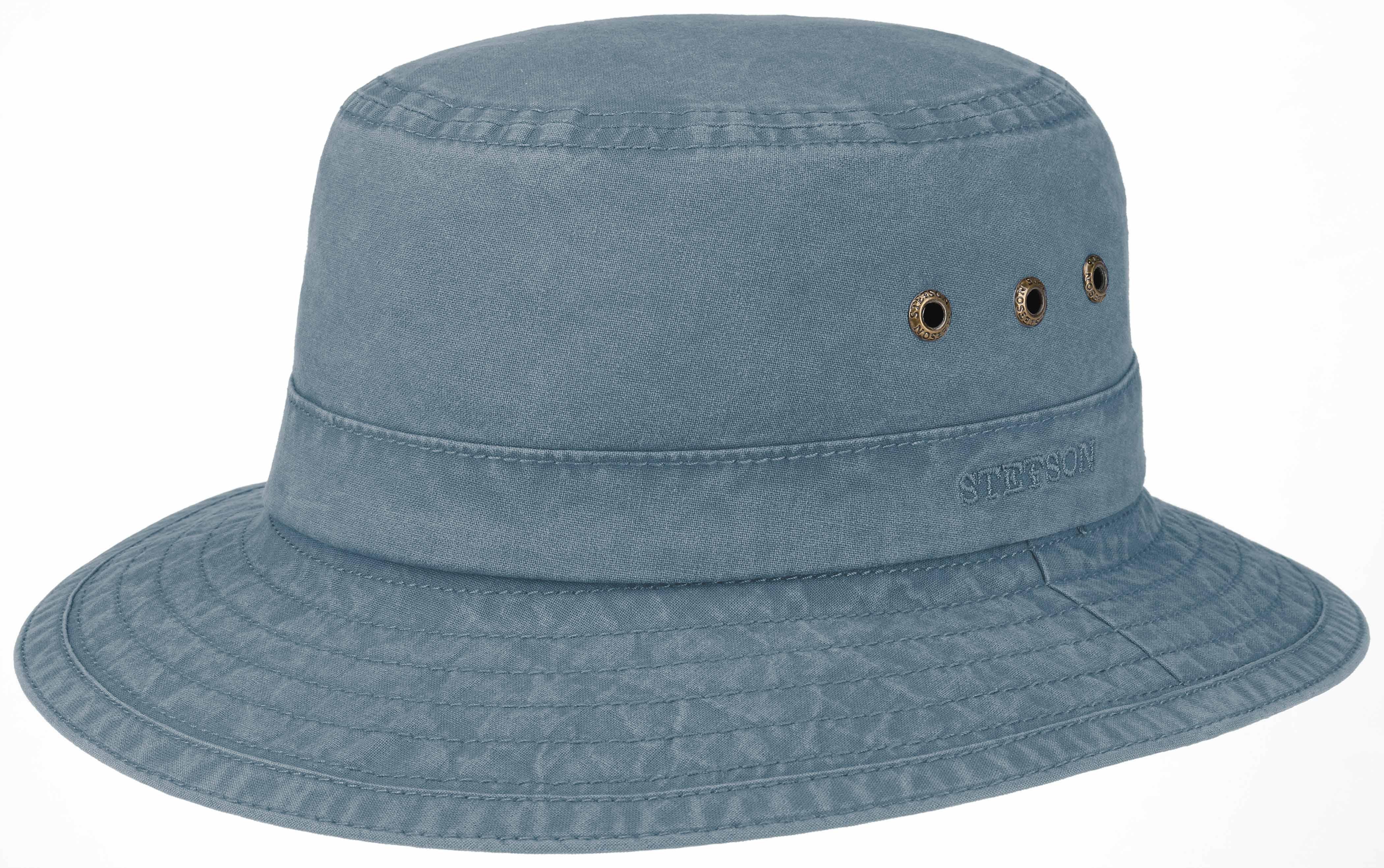 Stetson - Stetson Bucket Delave Organic Cotton Uv Protection Lacivert Şapka
