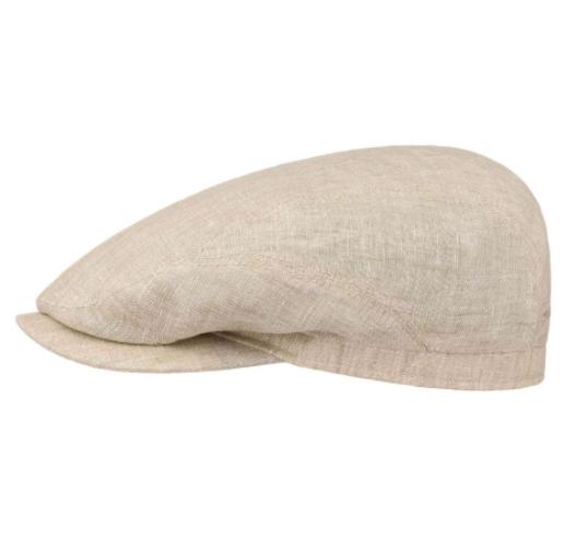 Stetson - Stetson Driver Cap Linen Naturel Keten El Yapımı Şapka
