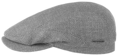 Stetson Driver Cap Virgin Wool Linen Grey Hat