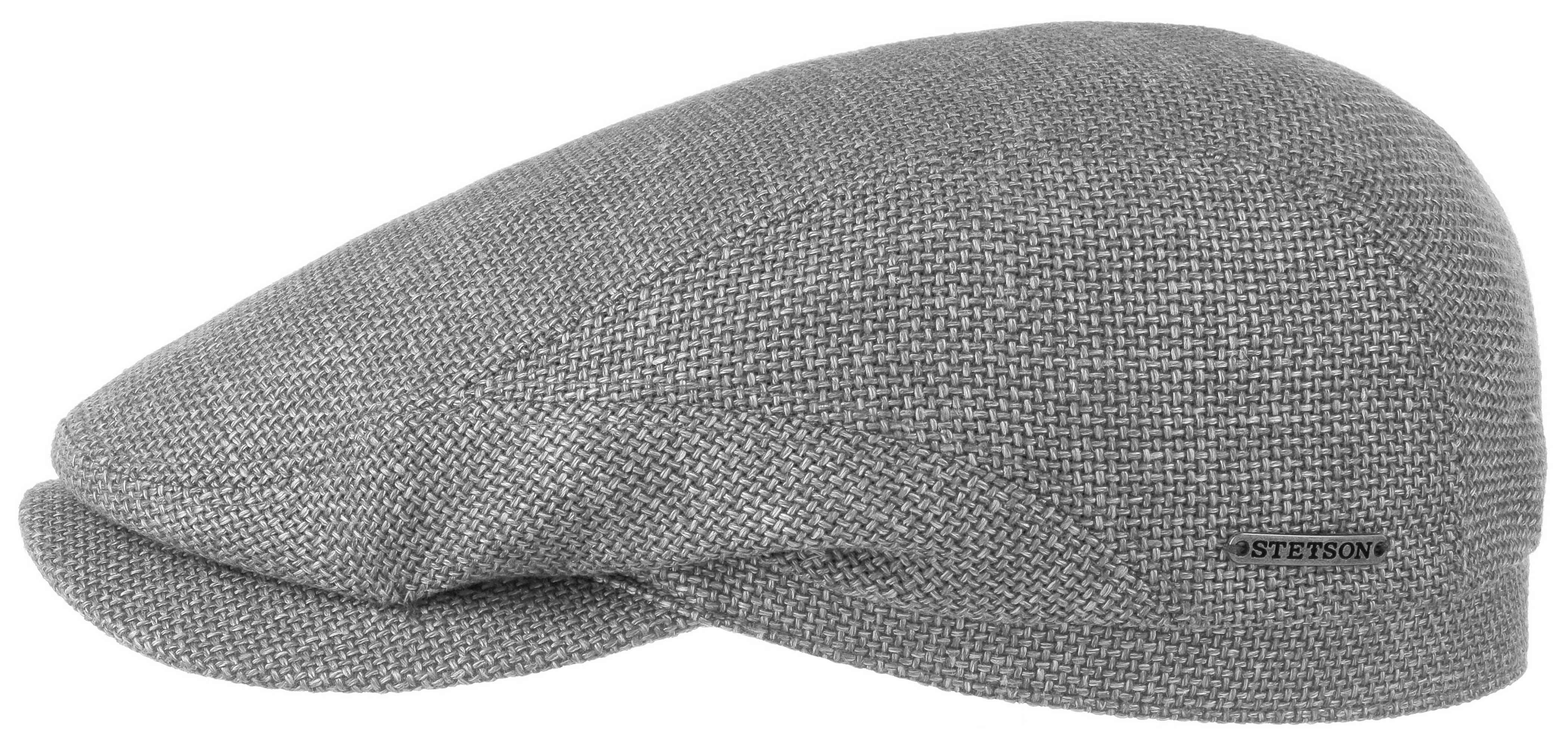 Stetson Driver Cap Virgin Wool Linen Gri Şapka