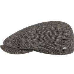 Stetson - Stetson Driver Cap Wool Balık Sırtı Kahverengi Yün Şapka