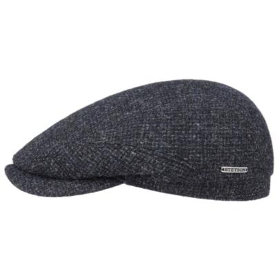 Stetson - Stetson Driver Cap Wool Lacivert Gri Kırçıllı Yün Şapka