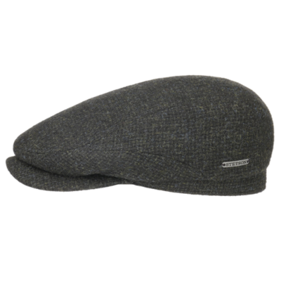 Stetson - Stetson Driver Cap Wool Zeytin Yeşili Kırçıllı Yün Şapka