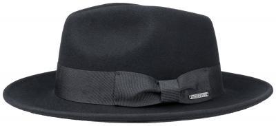 Stetson - Stetson Fedora Yün - Kaşmir Siyah Şapka