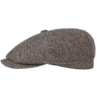 Stetson - Stetson Hatteras Wool Balık Sırtı Kahverengi Yün Şapka