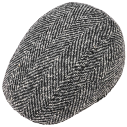 Stetson - Stetson Ivy Kap Balık Sırtı Wirgin Wool/Yün El Yapımı Gri Siyah Şapka (1)