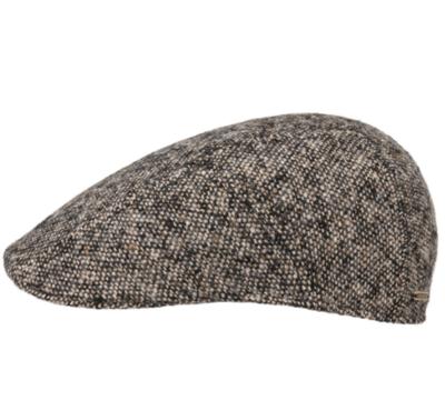 Stetson - Stetson Ivy Kap Donegal/Tweed Wirgin Wool/Yün El Yapımı Gri Bej Şapka
