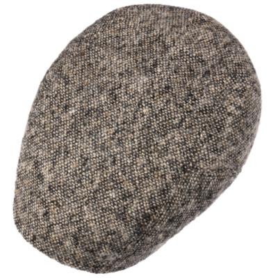Stetson - Stetson Ivy Kap Donegal/Tweed Wirgin Wool/Yün El Yapımı Gri Bej Şapka (1)