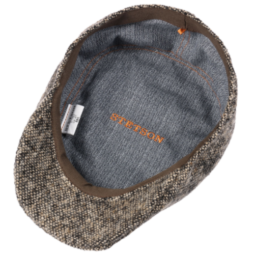 Stetson Ivy Kap Donegal/Tweed Wirgin Wool/Yün El Yapımı Gri Bej Şapka